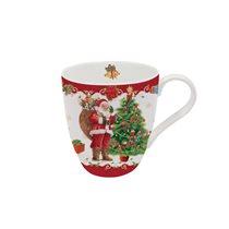 "Cana portelan 350 ml, ""Vintage Christmas"", rosu - Nuova R2S"