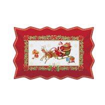 "Platou portelan ""Vintage Christmas"" 35 x 23 cm, rosu - Nuova R2S"