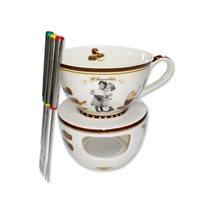 "Set fondue ""Vintage Chocolate"" 6 piese - Nuova R2S"
