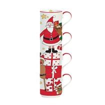 "Set 4 cani 275 ml ""Santa and Friends - Presents"" - Nuova R2S"