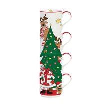 """Set 4 cani 275 ml """"Santa & Friends - Tree"""" - Nuova R2S"""