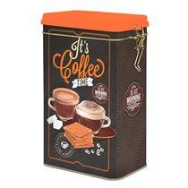 """Cutie metalica pentru cafea """"It's coffee time"""" - Nuova R2S"""