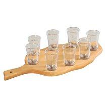 Set 8 pahare shot cu suport - Kesper