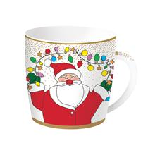 "Cana Craciun ""Christmas Friends"" alba 350 ml din portelan - Nuova R2S"