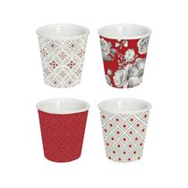 """Set 4 cesti cafea din portelan """"Trend & Colours"""", rosu - Nuova R2S"""