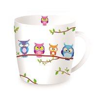 "Cana din portelan 350ml ""Owls - Tree"" - Nuova R2S"