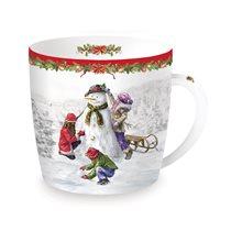 "Cana din portelan 350ml ""Christmas Time - Snowman"" - Nuova R2S"