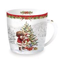"Cana din portelan 350 ml ""Christmas Time - Santa's tree"" - Nuova R2S"