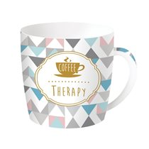 "Cana ""Coffee or Tea - Therapy"" 350 ml din portelan - Nuova R2S"