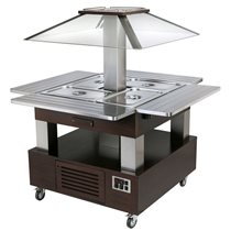 Bufet rece  SBC 40 F Wenghe, 144.4 X 144.5,  Roller Grill